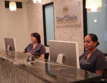 Star Clinic staff at reception desk