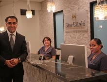 Dr. Azadi and Staff at Reception desk